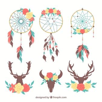 Set de ornamentos boho