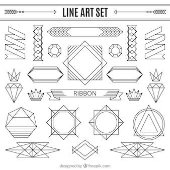 Set de ornamentos lineales