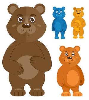 Set de osos de peluche decorativos.