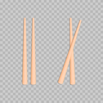 Set de palillos de comida