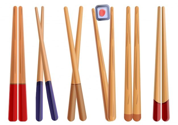 Set de palillos, estilo de dibujos animados