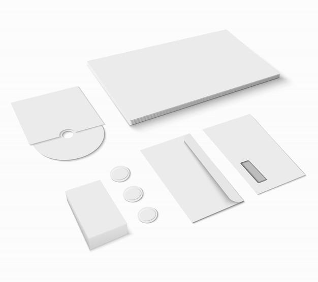 Set de papelería en blanco