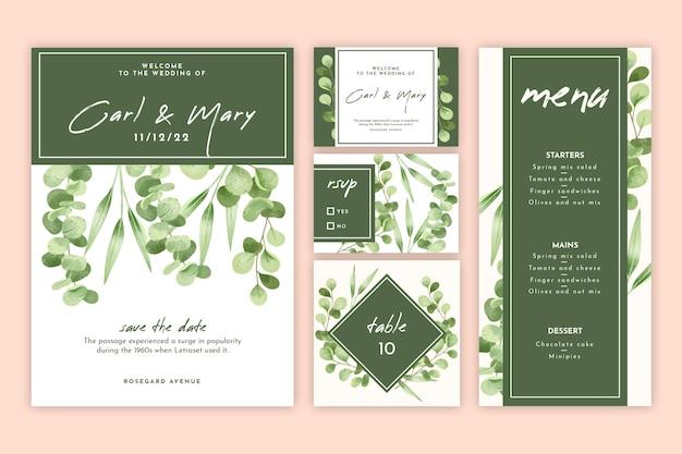 Set de papelería de boda floral
