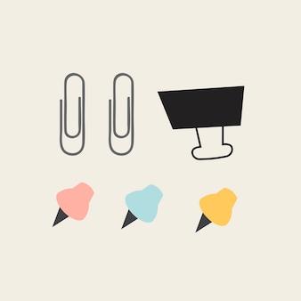 Set de papelería colorido