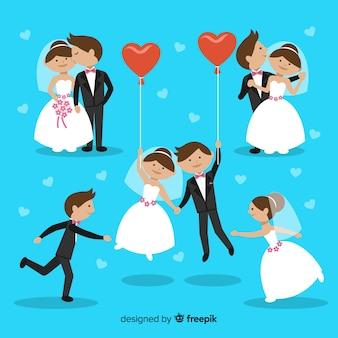 Set de pareja de novios