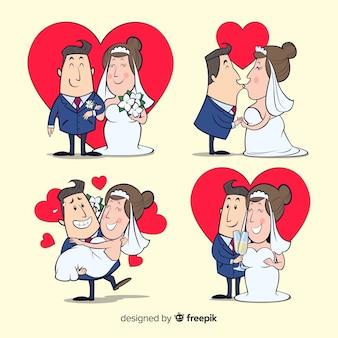 Set de parejas de boda
