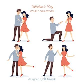 Set de parejas del día de san valentín