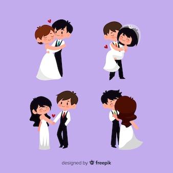 Set de parejas de novios