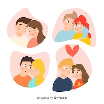 Set de parejas de san valentín