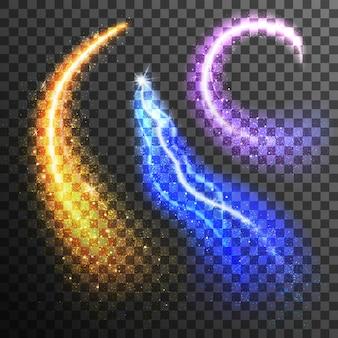 Set de partículas de purpurina transparente