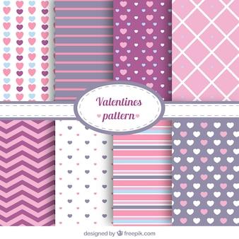 Set de patrones abstractos de san valentín