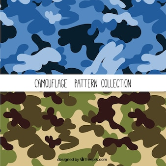 Set de patrones de camuflaje