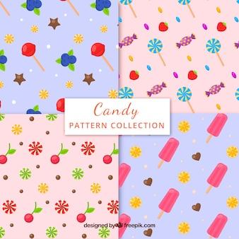 Set de patrones de caramelos