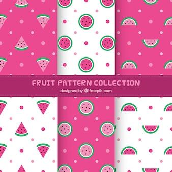 Set de patrones decorativos de sandía