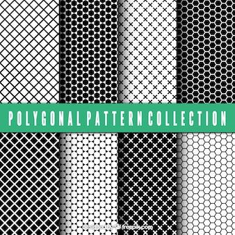 Set de patrones de formas poligonales