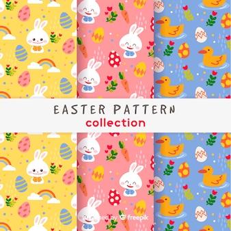 Set patrones pascua coloridos