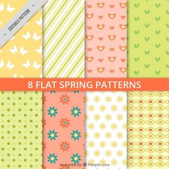 Set de patrones de primavera