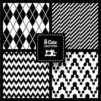 Set de patrones de tela continuos