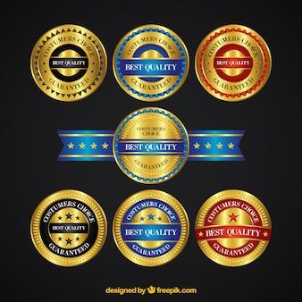 Set de pegatinas doradas de calidad suprema