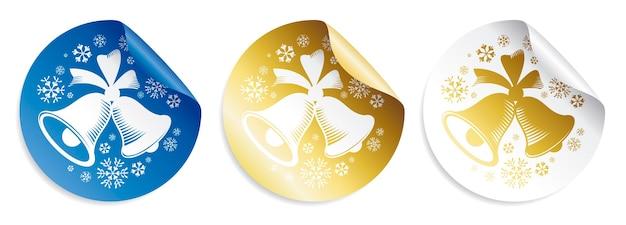 Set de pegatinas navideñas con campanas