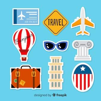 Set de pegatinas de viaje