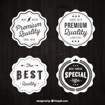 Set de pegatinas vintage de calidad suprema