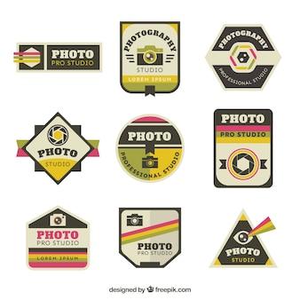 Set de pegatinas vintage de fotografía