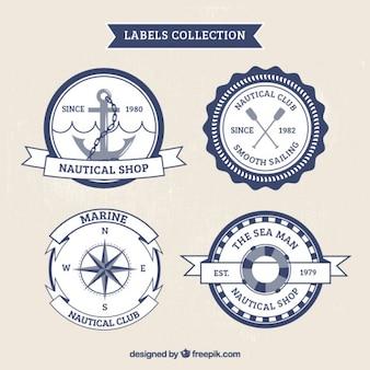 Set de pegatinas vintage marinas