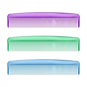 Set de peines de plásticos coloridos
