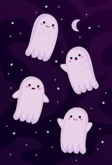 Set de pequeños fantasmas