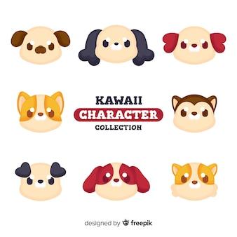 Set de perros en estilo kawaii