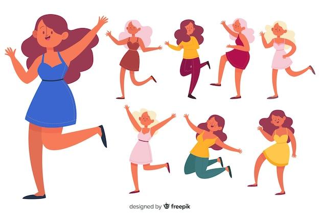 Set de personajes bailando