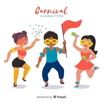 Set de personajes de carnaval