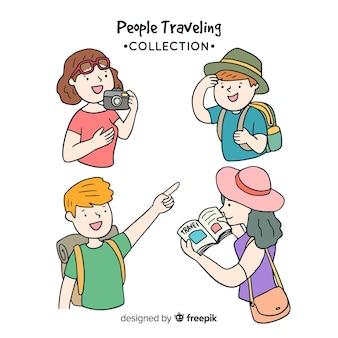 Set de personas de viaje