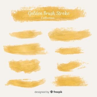 Set de pinceladas doradas