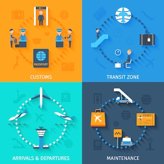 Set plano aeropuerto