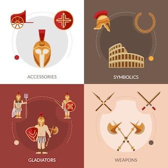 Set plano de gladiador