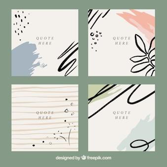 Set de plantillas abstractas vintage para citas