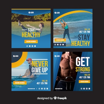 Set de plantillas de folletos deportivos