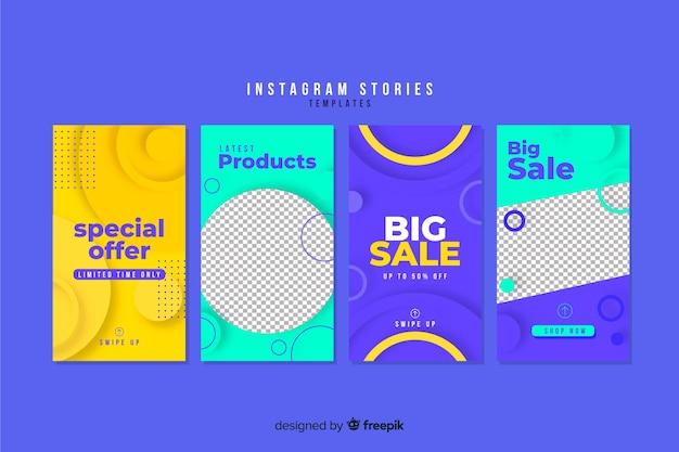Set de plantillas de historias de instagram de rebajas