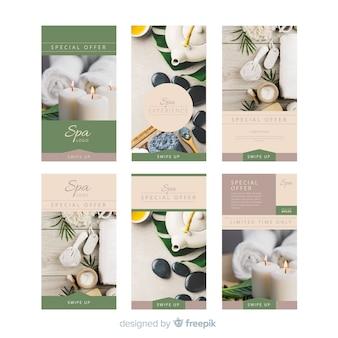 Set de plantillas de instagram stories