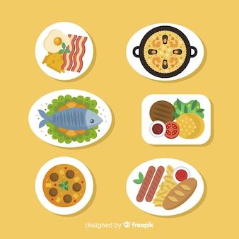 Set platos de comida planos