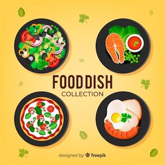 Set de platos de comida realistas