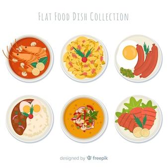Set de platos de comida