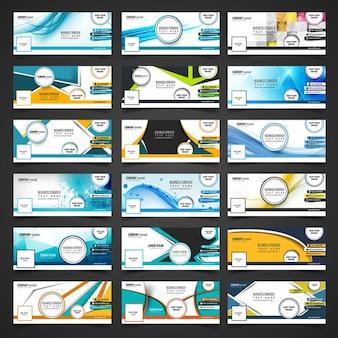 Set de portadas abstractas de facebook