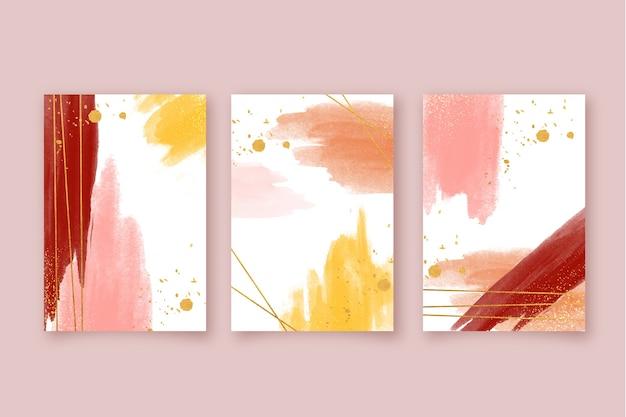 Set de portadas de acuarela