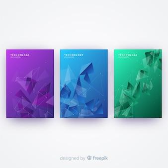 Set de portadas coloridas de tecnología
