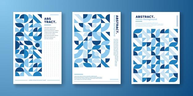 Set de portadas con diseño estilo bauhaus