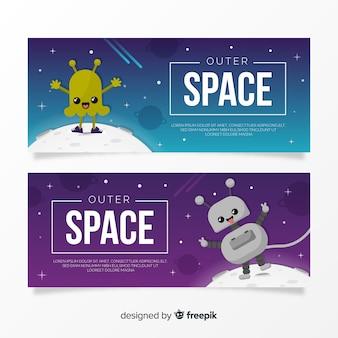 Set de portadas espaciales