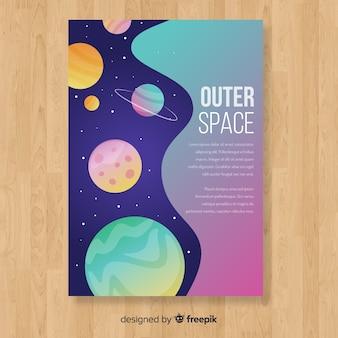 Set de portadas del espacio exterior